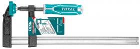 Staliaus spaustuvas TOTAL, F-formos, max 450 kg, 120x400 mm THT1321202