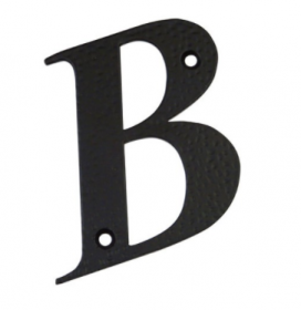 Namo raidė B 100x65mm, kald.metal., juoda sp., 17557
