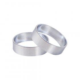 Karnizo žiedas MARDOM FUSION, skersmuo 19 mm, spl. sidabro, 2 vnt.