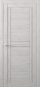 Laminuotų durų varčia ALBERO Karolina, su matiniu stiklu, dengta Soft-Touch plėvele, perlas, 2000x38x600 mm.