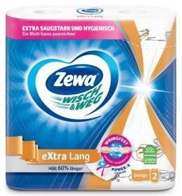 Popierinis rankšluostis ZEWA W&W 2- jų sluoksnių, 2 ritinėliai