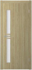 Laminuotų durų varčia UNIDOORS Evvan su stiklais 80 cm, šviesaus ąžuolo spalvos (c12/01)