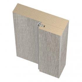 Laminuotų durų stakta su tarpine UNIDOORS, pilka sonoma, 40/70x26x2070 mm, 2,5 vnt.