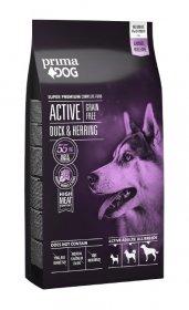 Sausas šunų ėdalas PRIMADOG Active, be grūdų, antiena-silkė, aktyviems suaugusiesiems šunims, 10kg