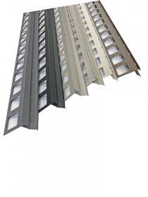 Profilis balkonų ir terasų užbaigimui ARCANSAS 430A/103, 2500 x 95 x 69 mm, aliuminis, akmens imitacija, betono spalvos