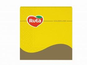 Servetėlės RUTA, 33 x 33 cm., 20 vnt., 3 sluoks., geltonos sp.