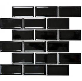 Mozaika METRO JUODA, 29,5 x 29,1 cm, 12 vnt./dėž., akmens masės, Vokietija, MM 0525, N