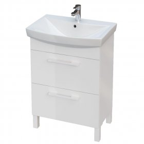 Vonios baldų komplektas CERSANIT AURO 50, 80 x 45 x 32,5 cm, balta, komplekte: praustuvas, sifonas, maišytuvas, ST, N