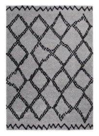 Kilimas TEP MIA, 120 x 170 cm, pilkos spalvos, rombai, 100% polipropilenas, Turkija, N