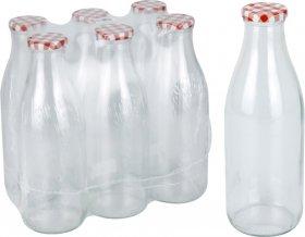 Stiklinis butelis, su dangteliu, 1 l