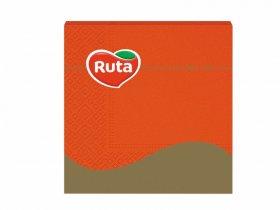 Servetėlės RUTA, 33 x 33 cm., 20 vnt., 3 sluoks., oranžinės sp.