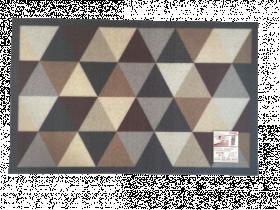 Kilimėlis RICCO TOLEDO, 50 x 80 cm, rombai, pilkas, 100% veliūras ant lateksinio sluoksnio, 772-305