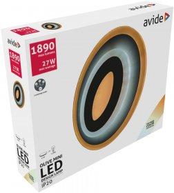 Lubinis LED šviestuvas AVIDE OLIVE AT-9569, 27 W, 200-265 V, 5000 K, 1890 lm, IP20, 3 švietimo režimai, 200 x 40 mm