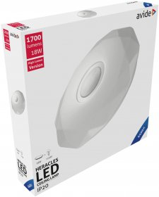 Lubinis LED šviestuvas AVIDE HERACLES AT-7626, 18 W, 220-240 V, 6400 K, 1700 lm, IP20, 348 x 66 mm