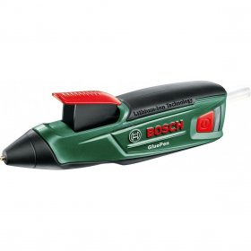 Karštų klijų pistoletas BOSCH GluePen Green, 3,6 V, Li, 1,5 Ah, 7 mm, micro USB