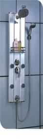 Dušo sienelė COMBO Aluminum DN-8028-03, 105 x 28 cm, masaž., viršut./rankin.dušas, 4 mas.purkštuk., vandens maišyt., veidrodis