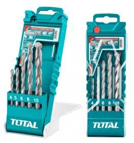 Daugiafunkcinių grąžtų rinkinys TOTAL, 5 vnt., (4-10 mm) TACSD7156