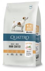 Sausas šunų ėdalas QUATTRO Mini Adult, su paukštiena, mažų veislių šunims, 1,5kg