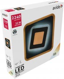 Lubinis LED šviestuvas AVIDE TIMBER AT-9545, 32 W, 200-265 V, 5000 K, 2240 lm, IP20, 3 švietimo režimai, 200 x 40 mm