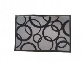 Kilimėlis POLO CIRCLES, 40 x 60, apskritimai, pilkas, 672-002