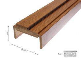 Durų stakta HELOST  PVC, reguliuojama, tamsaus ąžuolo spalvos, 100-140.