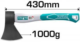 Kirvis TOTAL stiklo pluošto rankena THT7810006, 430 mm, 45CS, 1 kg.