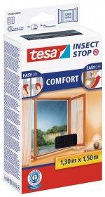 Apsauginis tinklelis langams nuo vabzdžių TESA COMFORT 1,3 x 1,5 m, juodas.