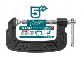 Spaustuvas TOTAL, G-formos, 125 mm, THT13151