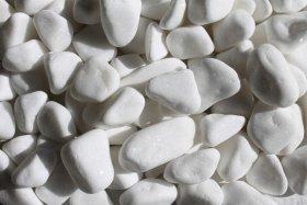 Dekoratyviniai akmenukai, balta sp., 15-25 mm., 1,5 kg., 06341