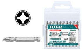 Atsuktuvų antgalių rinkinys TOTAL, PH2, S2 plienas, magnet., 50 mm, 10 vnt. TAC16PH223