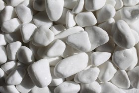 Dekoratyviniai akmenukai, balta sp., 5-12 mm., 1,5 kg., 06340