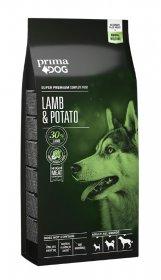 Sausas šunų ėdalas PRIMADOG, ėriena-bulvės visiems suaugusiems šunims, 12 kg.