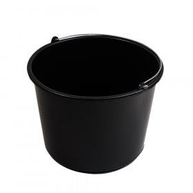 Plastikinis kibiras MOKI VEŽI 20 l,  juodas