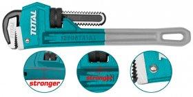 Santechninis raktas TOTAL, iki 60 mm, 450 mm(18'') THT171186