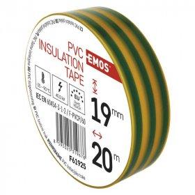 Elektroizoliacinė juosta EMOS, PVC 0,13x19mm (20m), geltonai-žalia