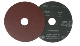 Šlifavimo diskas SAIT, Fibro tipo, NR80, 125 x 22 mm