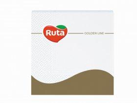 Servetėlės RUTA, 33 x 33 cm., 20 vnt., 3 sluoks., baltos sp.