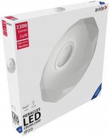 Lubinis LED šviestuvas AVIDE HERACLES AT-7848, 24 W, 220-240 V, 6400 K, 2200 lm, IP20, 395 x 66 mm