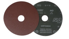 Šlifavimo diskas SAIT, Fibro tipo, NR24, 125 x 22 mm