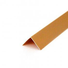 PVC kampinis profilis 40x40x2700 mm, Nr.010, kreminės spalvos