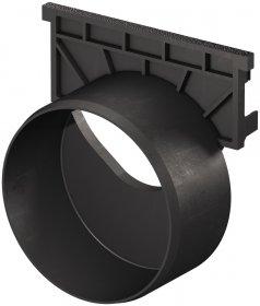 Galinė sienutė PP ACO, su DN100 jungtimi, juoda, 319289