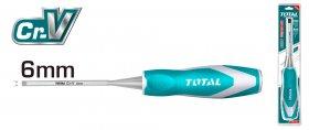 Kaltas TOTAL, medžiui, CR-V, 6x140 mm, THT4166