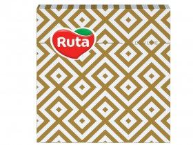Kalėdinės servetėlės RUTA, 33 x 33 cm., 20 vnt., 2 sluoks., auksinės sp.