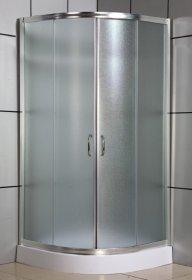 Dušo kabina COMBO Ibisa Sonrisa DN-033-1W, 90 x 90 x 198 cm, pusapvalė, akril. pad. 12,5 cm, mat. grūd. stiklas, mat. sien., N