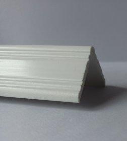 Dekoratyvinis apdailos kampas IDEAL CFE25, išorinis, spl. balta, Nr.001, 25x25x2700 mm