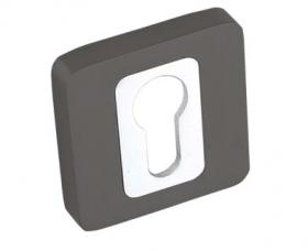 Durų apyraktė, MADERA rankenai, kvadratinė, skirta cilindrui, grafito, chromo spalvos
