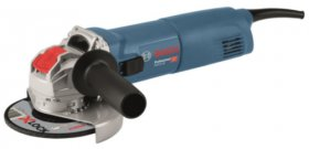 Kampinis šlifuoklis BOSCH GWX 14-125, 125 mm, beraktė X-lock sistema, galia 1400 W