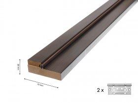 Ekofaneruotų durų stakta su tarpine ir 2 vyriais UNIDOORS 2,5 vnt. Matmenys 70 x 26 mm, venge spalvos.