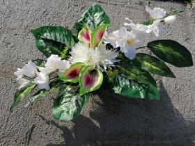 Dirbtinių gėlių kompozicija N4, 40 x 70 cm., įv. spalvų
