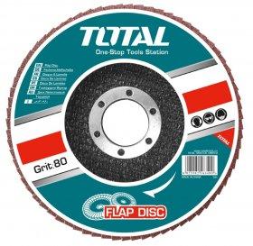 Žiedlapinis diskas TOTAL, kampiniam šlifuokliui, 115x22 mm, P60, TAC631152